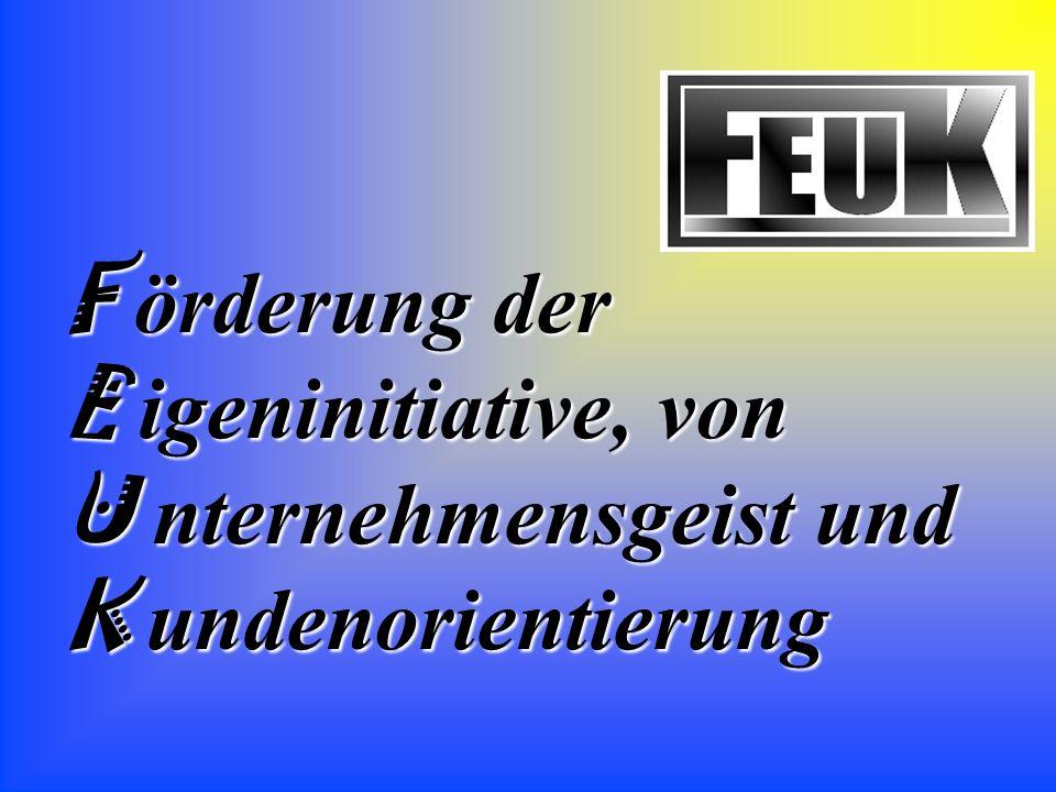 F örderung der E igeninitiative, von U nternehmensgeist und K undenorientierung