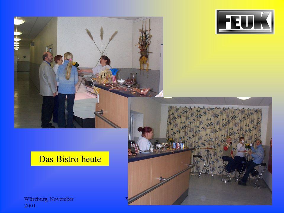 Würzburg, November 2001 Wolf/Schriefer8 Das Bistro heute