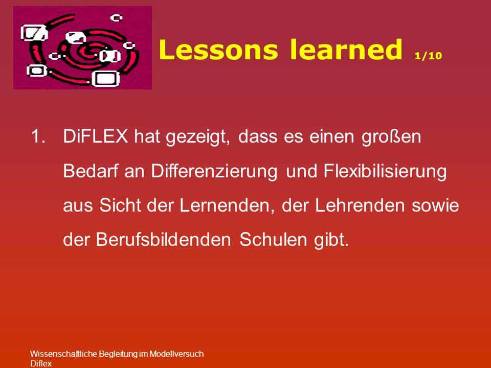 2.DiFLEX hat zur Entideologisierung der Moduldebatte beigetragen.