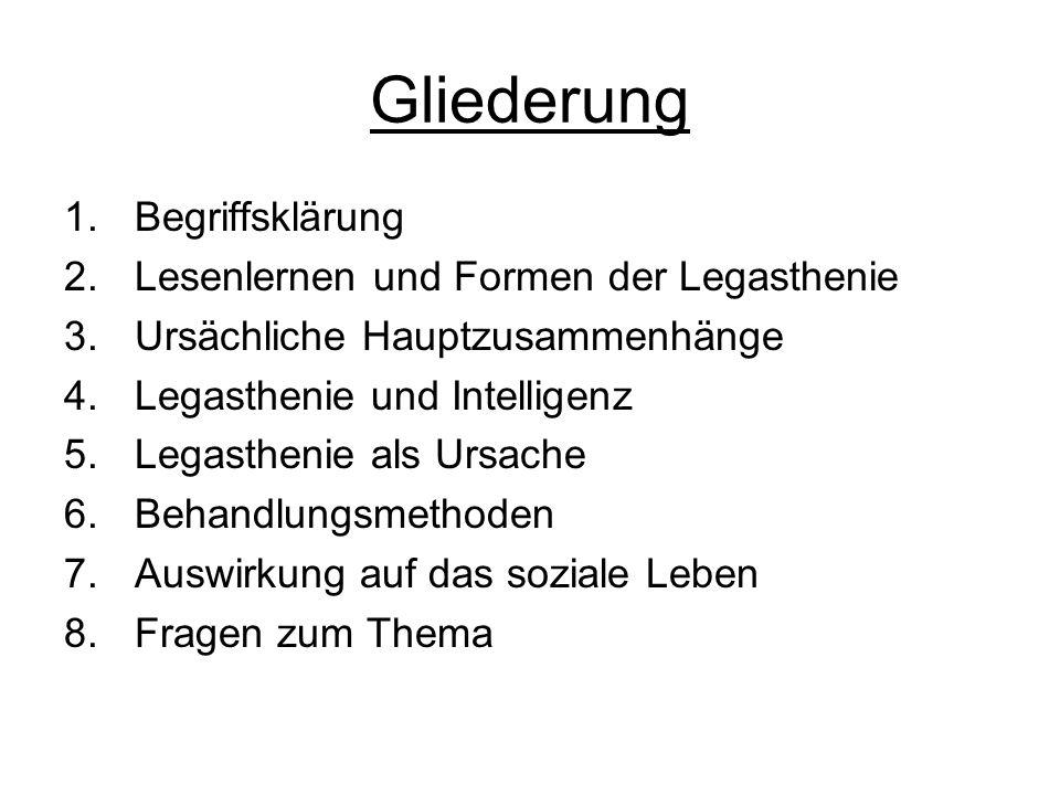 Begriffsklärung Knaurs Lexikon, 1981: l.-gr., Lese- und Rechtschreibschwäche trotz normaler Intelligenz.