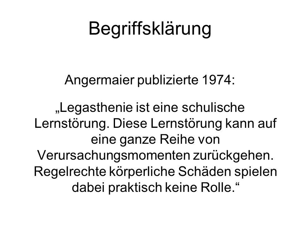 Begriffsklärung Wolffs Ansicht aus dem Jahr 1974: Die Leserechtschreibschwäche (LRS) ist nicht länger primär Symptom einer individuellen Störung, sondern ist Symbol gesellschaftlicher Zuständigkeiten geworden.