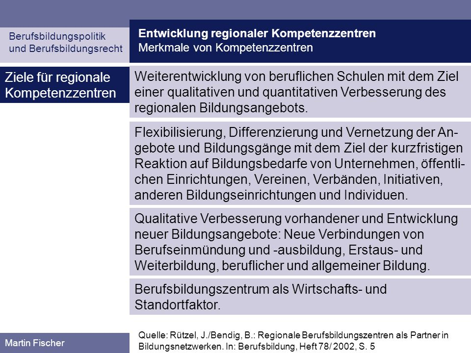 Entwicklung regionaler Kompetenzzentren Planung und Entwicklung in den Bundesländern Berufsbildungspolitik und Berufsbildungsrecht Martin Fischer Hessen (I) Quelle: Hessisches Kultusministerium: Selbstverantwortung plus.