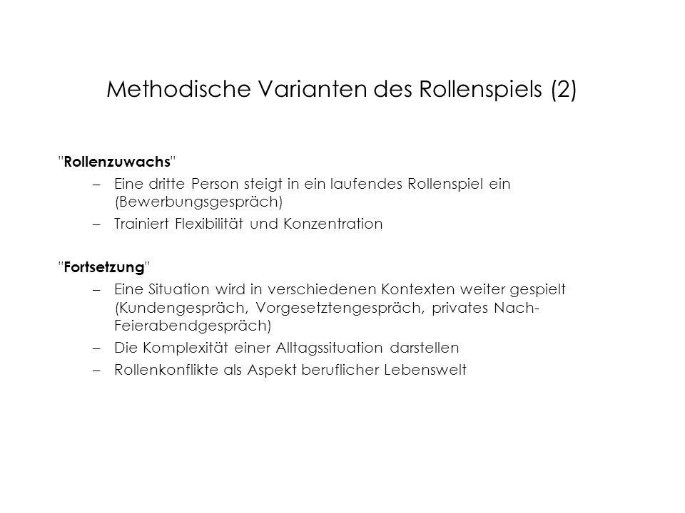 Methodische Varianten des Rollenspiels (2)