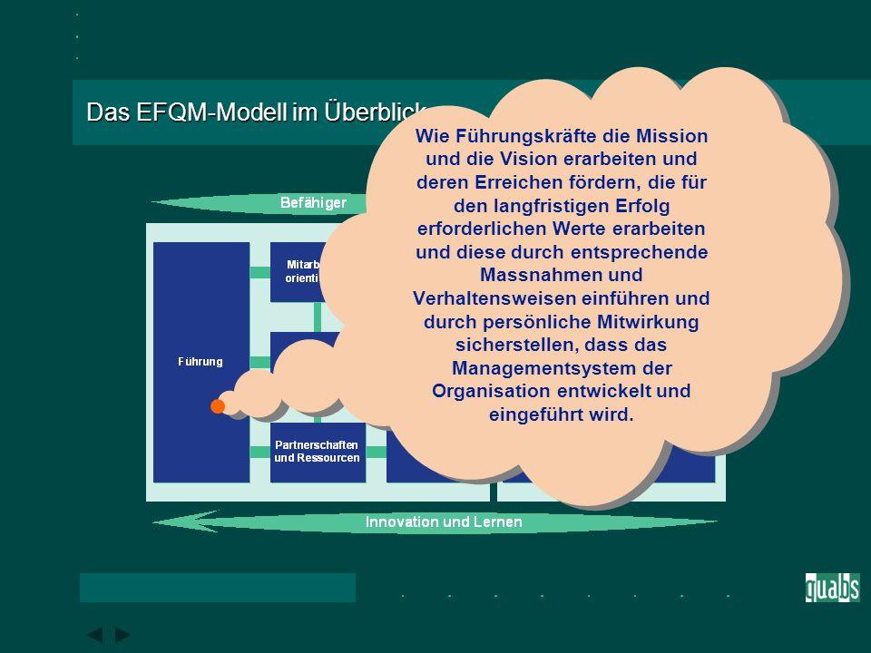Das EFQM-Modell im Überblick