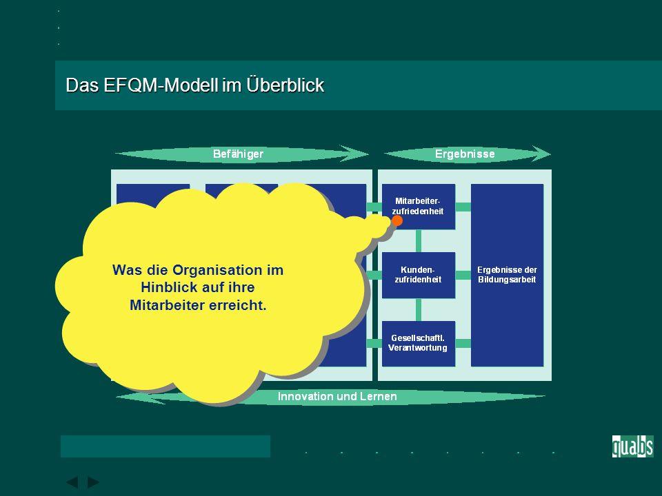 Das EFQM-Modell im Überblick Wie die Organisation ihre Prozesse gestaltet, managt und verbessert, um ihre Politik und Strategie zu unterstützen und ih
