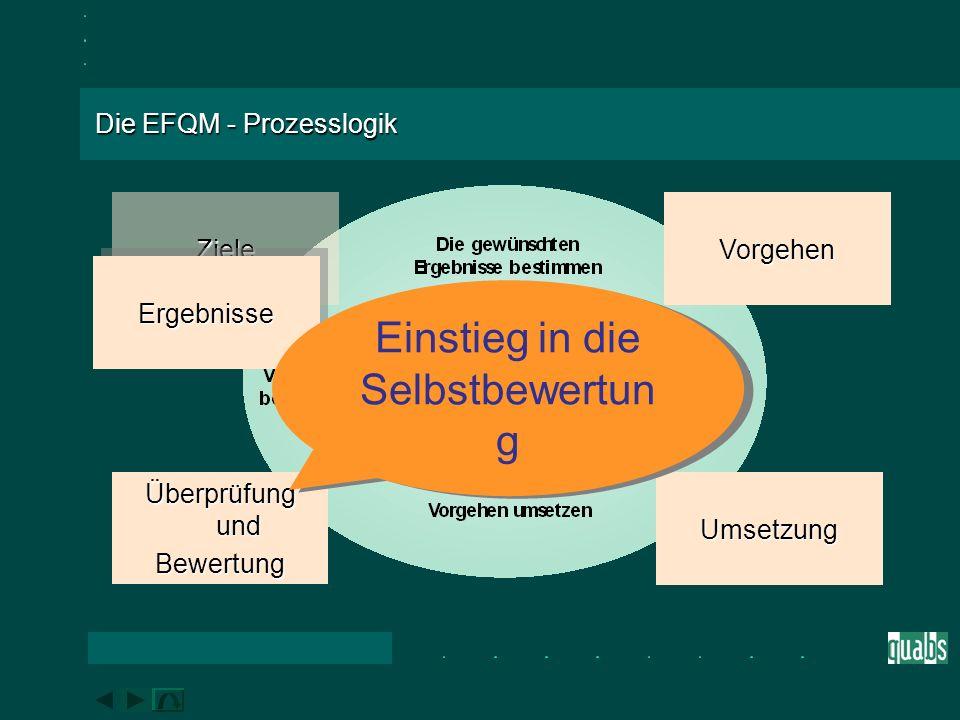 Das EFQM-Modell im Überblick Was die Organisation in Bezug auf ihre geplanten Leistungen erreicht.