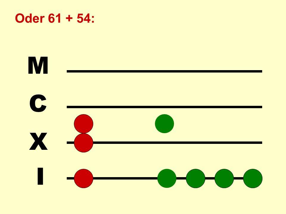 I X C M Das Ergebnis 129 kann unmittelbar abgelesen werden: