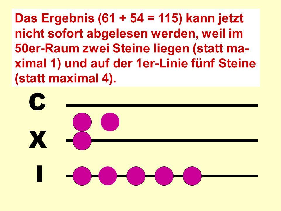 I X C M Oder 61 + 54: