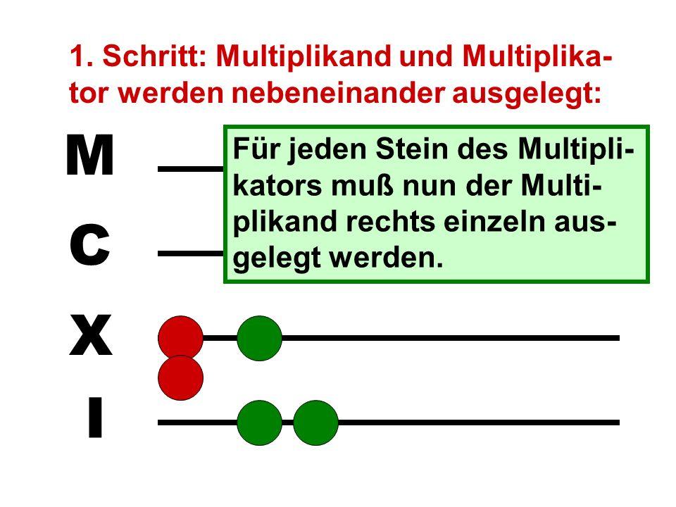 Nun folgt das Multiplizieren. Es erfordert deutlich mehr Zeit und Aufmerksamkeit und ist bereits recht fehleranfällig.