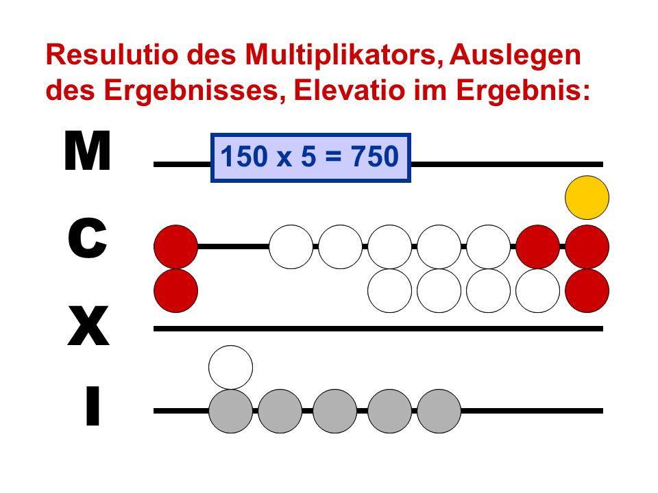 So einfach geht das aber nur, wenn der Multiplikator ausschließlich aus Einerstellen, d.h. aus Steinen auf der Linie, besteht. Schwieriger ist die Mul