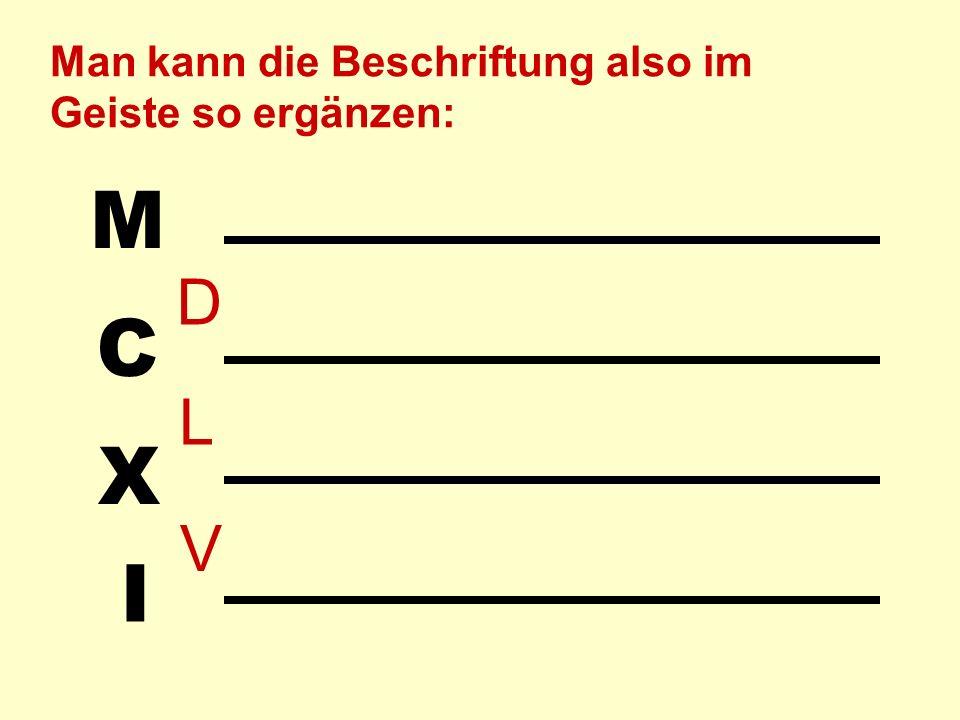 I X C M Beim Subtrahieren wird der Minuend ausgelegt und der Subtrahend einfach weggenommen.