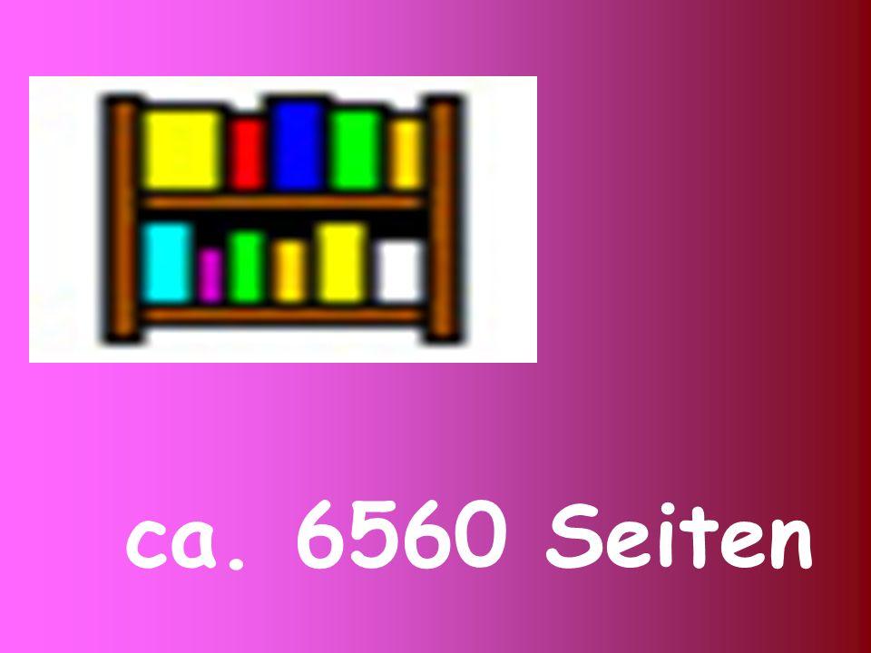 ca. 6560 Seiten
