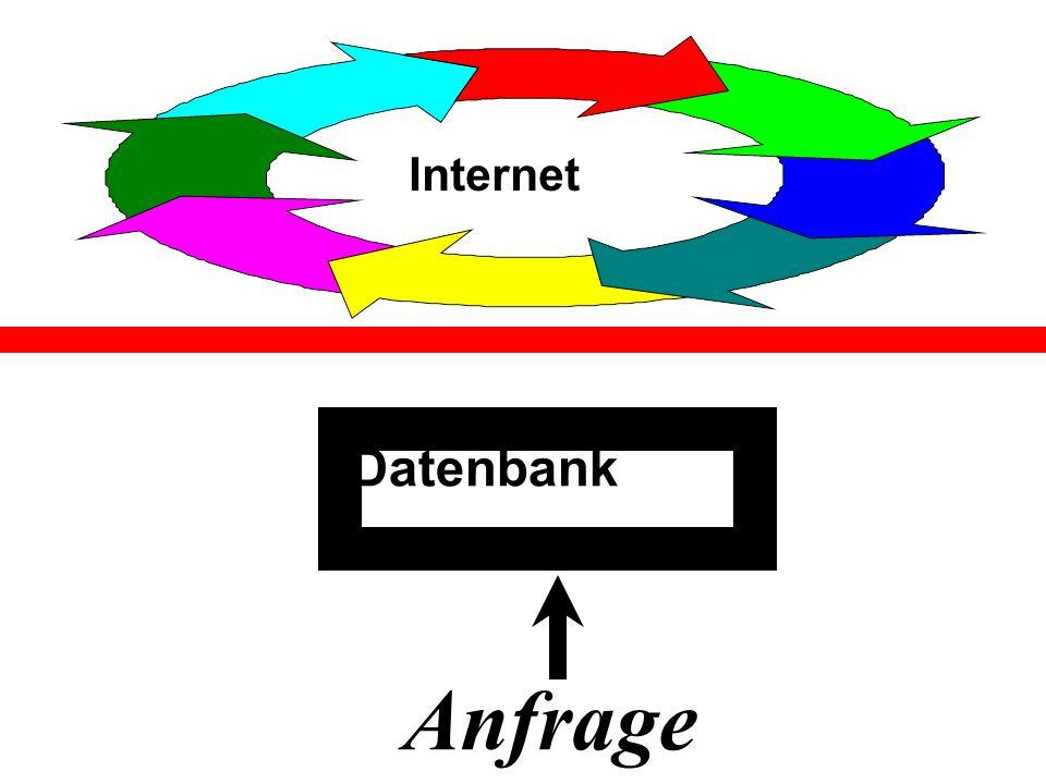 Internet Datenbank Anfrage