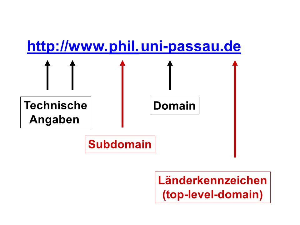 http://www. uni-passau.de phil.