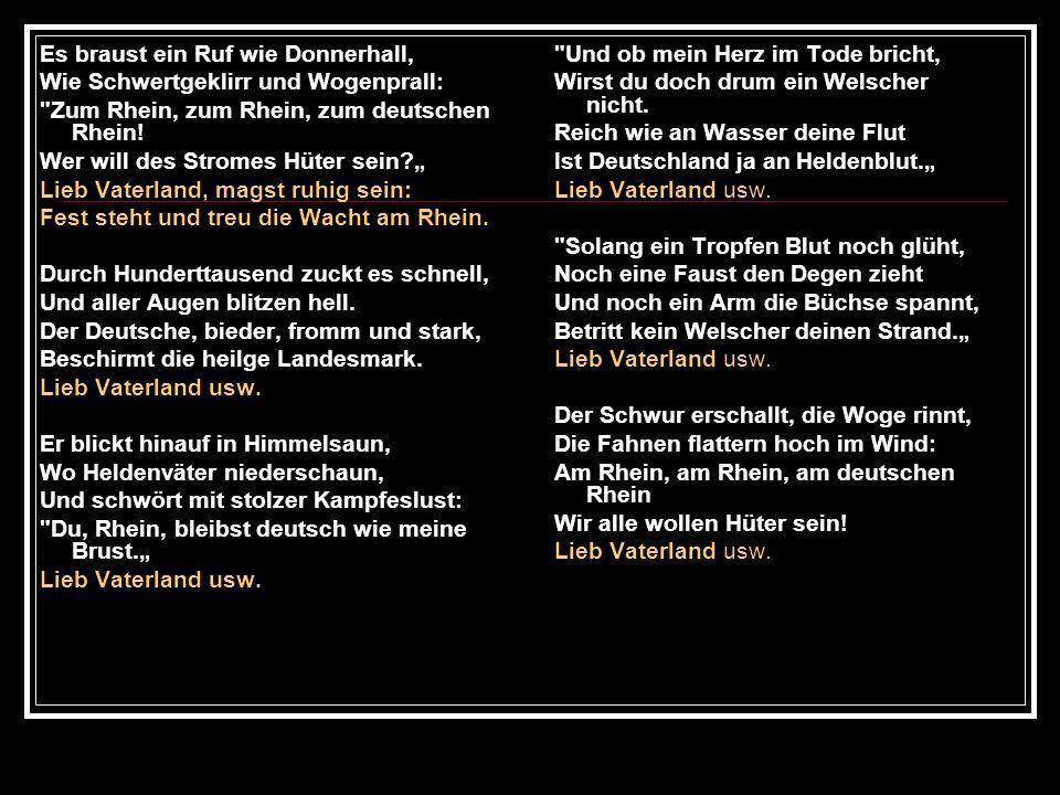 Gott mit dir, du Land der Bayern, deutsche Erde, Vaterland.