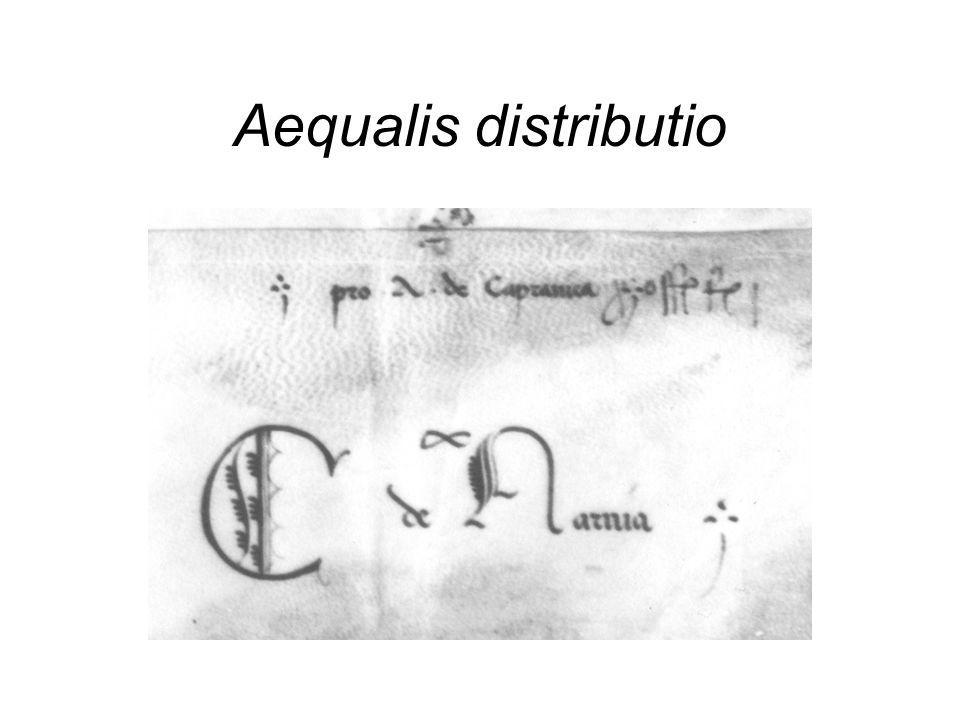 Aequalis distributio