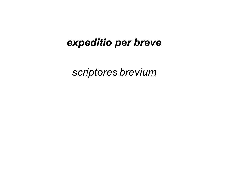 expeditio per breve scriptores brevium