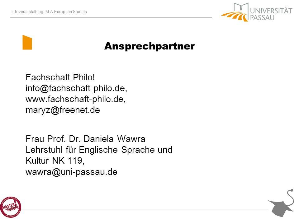 Infoveranstaltung M.A.European Studies Ansprechpartner Fachschaft Philo.