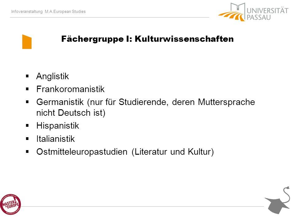 Infoveranstaltung M.A.European Studies Weitere Hinweise zum Studium II eMail-account (v.a.