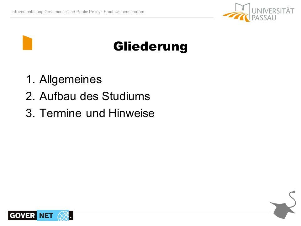Infoveranstaltung Governance and Public Policy - Staatswissenschaften 1.