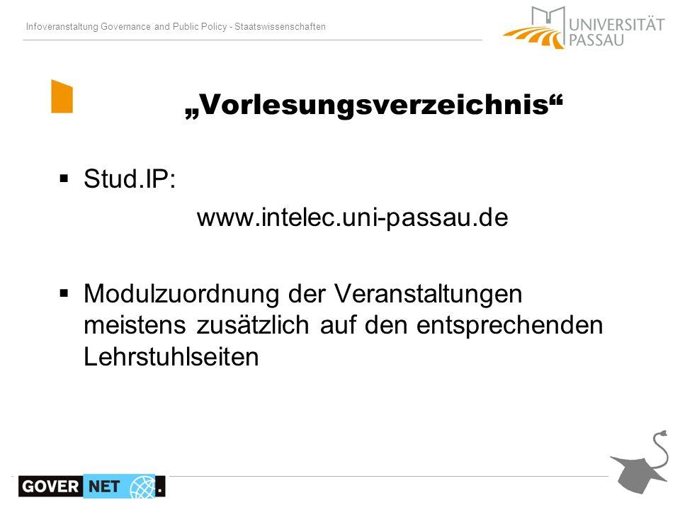 Infoveranstaltung Governance and Public Policy - Staatswissenschaften Stud.IP: