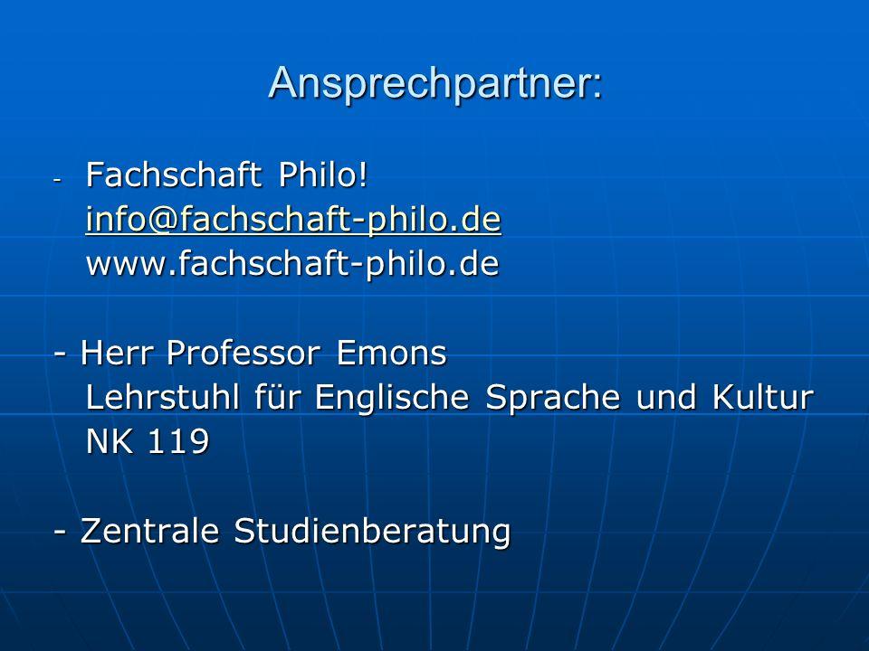 Ansprechpartner: - Fachschaft Philo! info@fachschaft-philo.deinfo@fachschaft-philo.de info@fachschaft-philo.de info@fachschaft-philo.dewww.fachschaft-