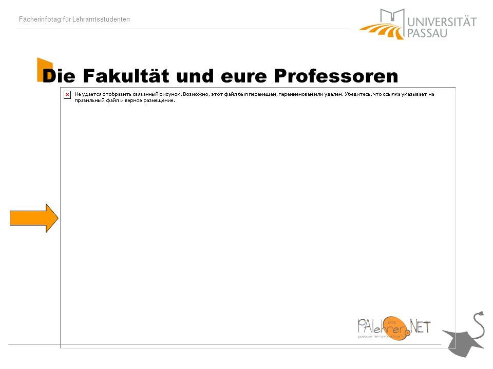 Fächerinfotag für Lehramtsstudenten Die Fakultät und eure Professoren