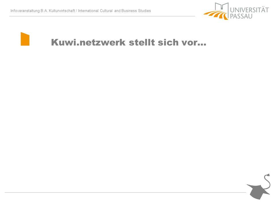 Infoveranstaltung B.A. Kulturwirtschaft / International Cultural and Business Studies Kuwi.netzwerk stellt sich vor…