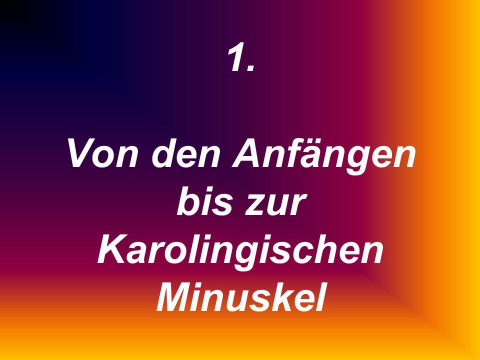 Einführung in die lateinische Paläographie Schnellkurs © Th. Frenz, Passau 2003