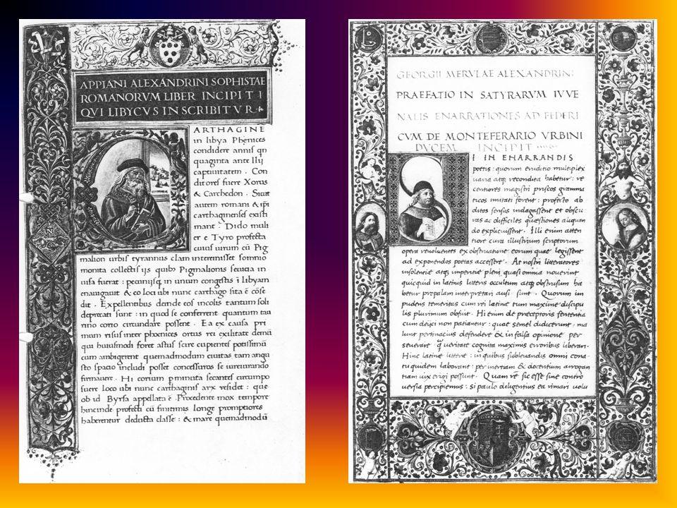 ab hier noch nicht voll ausgearbeitet humanistische Schrift = Wiederaufnahme der karolingischen Minuskel humanistische Kursive (littera antiqua) human