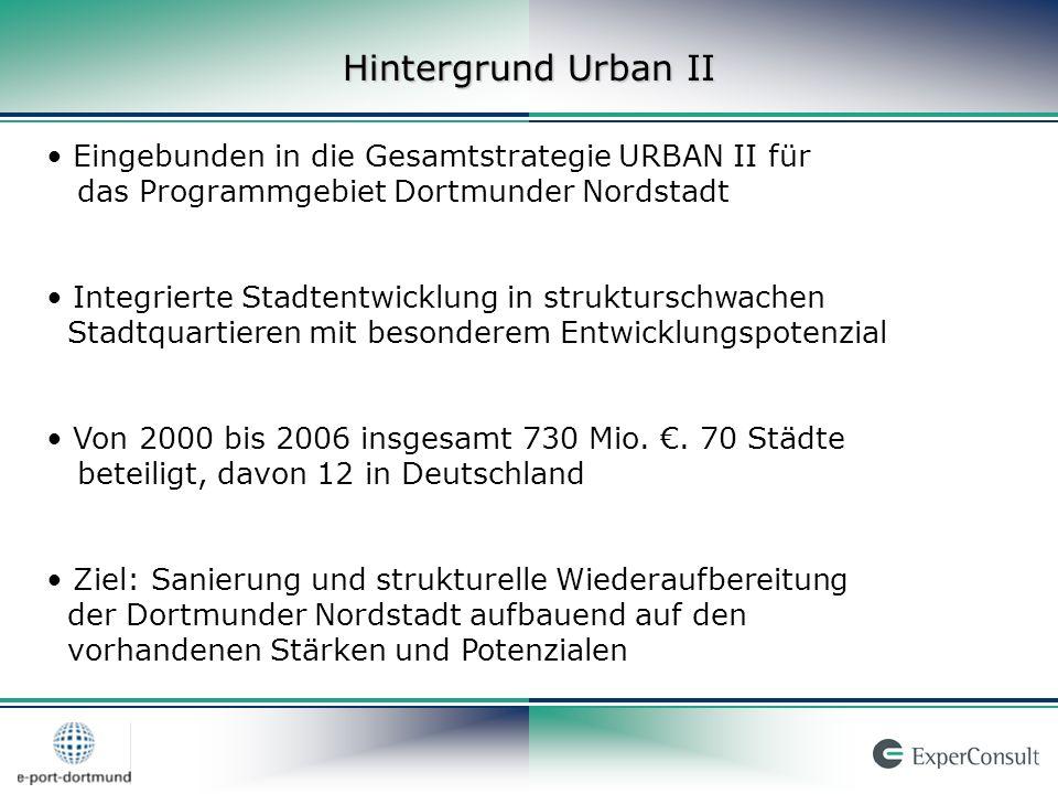 Rahmendaten IZN Projektlaufzeit von Juli 2005 bis August 2008 Projektträger: ExperConsult und e-port-dortmund 6 Mitarbeiter im Projekt:ExperConsult (2) e-port-dortmund (4) Standort: e-port-dortmund Mallinckrodtstraße 320, 44147 Dortmund