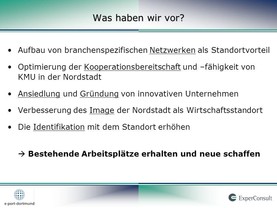 Innovative Dienstleistungsbranchen in der Nordstadt Kreativ-Wirtschaft (Design, Medien, Kommunikation) Gesundheitswirtschaft und Handwerk Umwelttechnologien und Energiewirtschaft