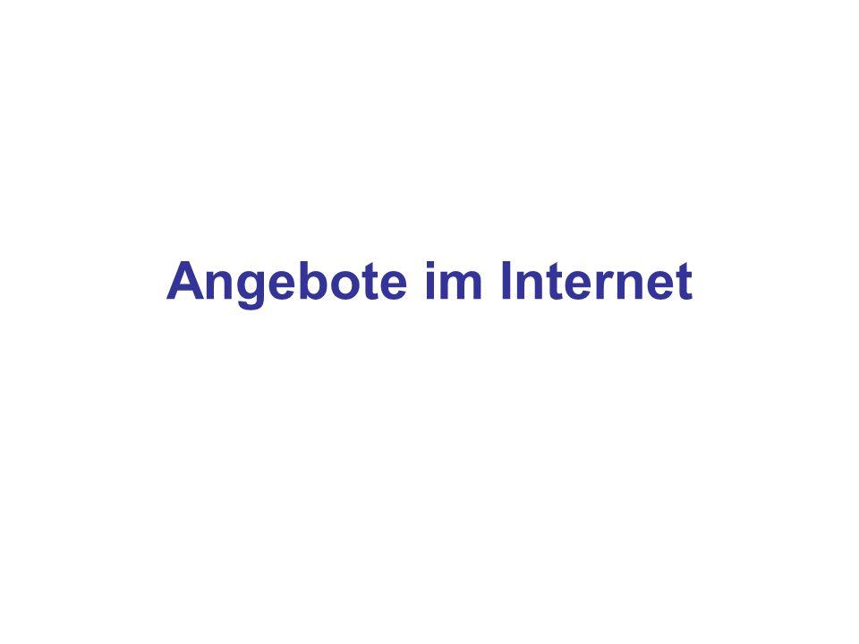 Angebote im Internet
