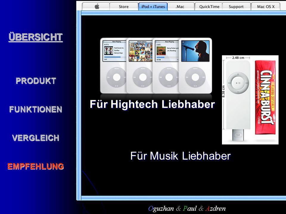 Für Hightech LiebhaberÜBERSICHTPRODUKTFUNKTIONENVERGLEICHEMPFEHLUNGFür Musik Liebhaber