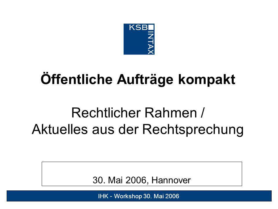 29.Juni 2005 1Süßes Gift IHK - Workshop 30.