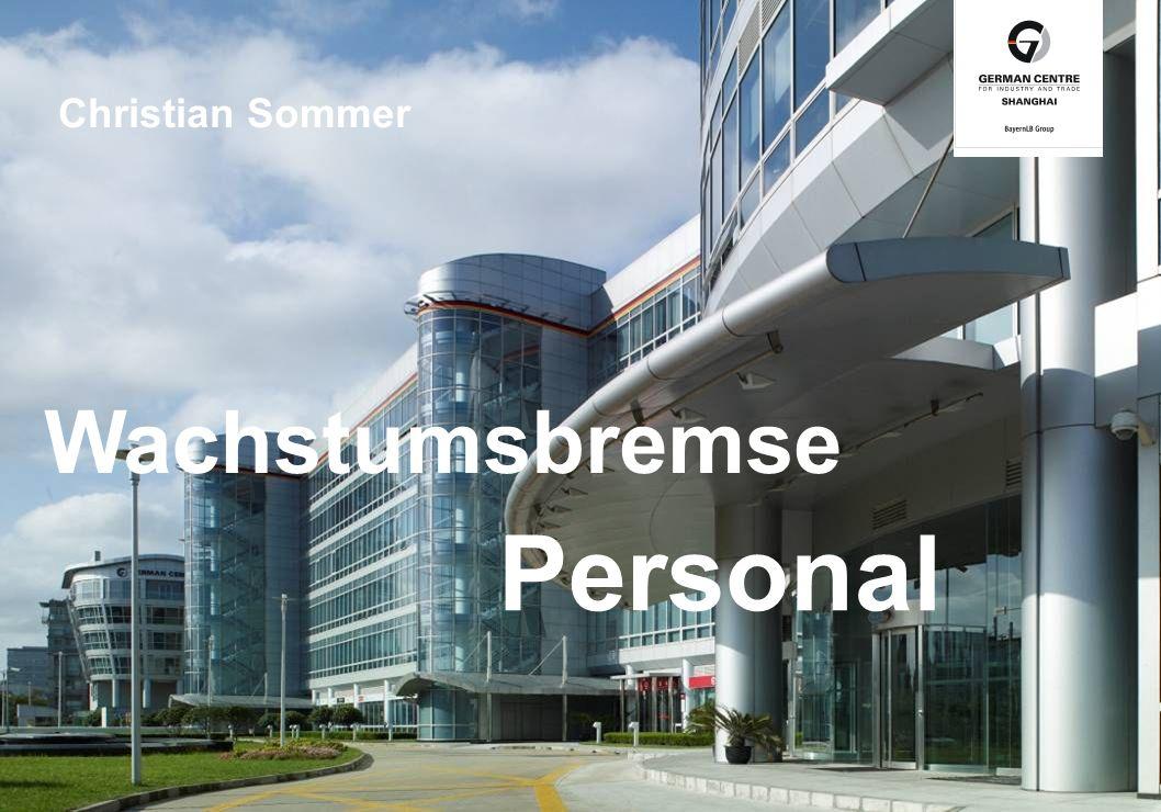 Headline Bildbeschreibung Personal Wachstumsbremse Christian Sommer