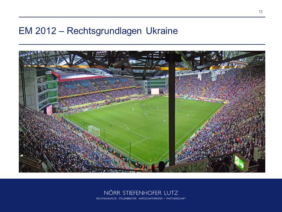 13 EM 2012 – Rechtsgrundlagen Ukraine