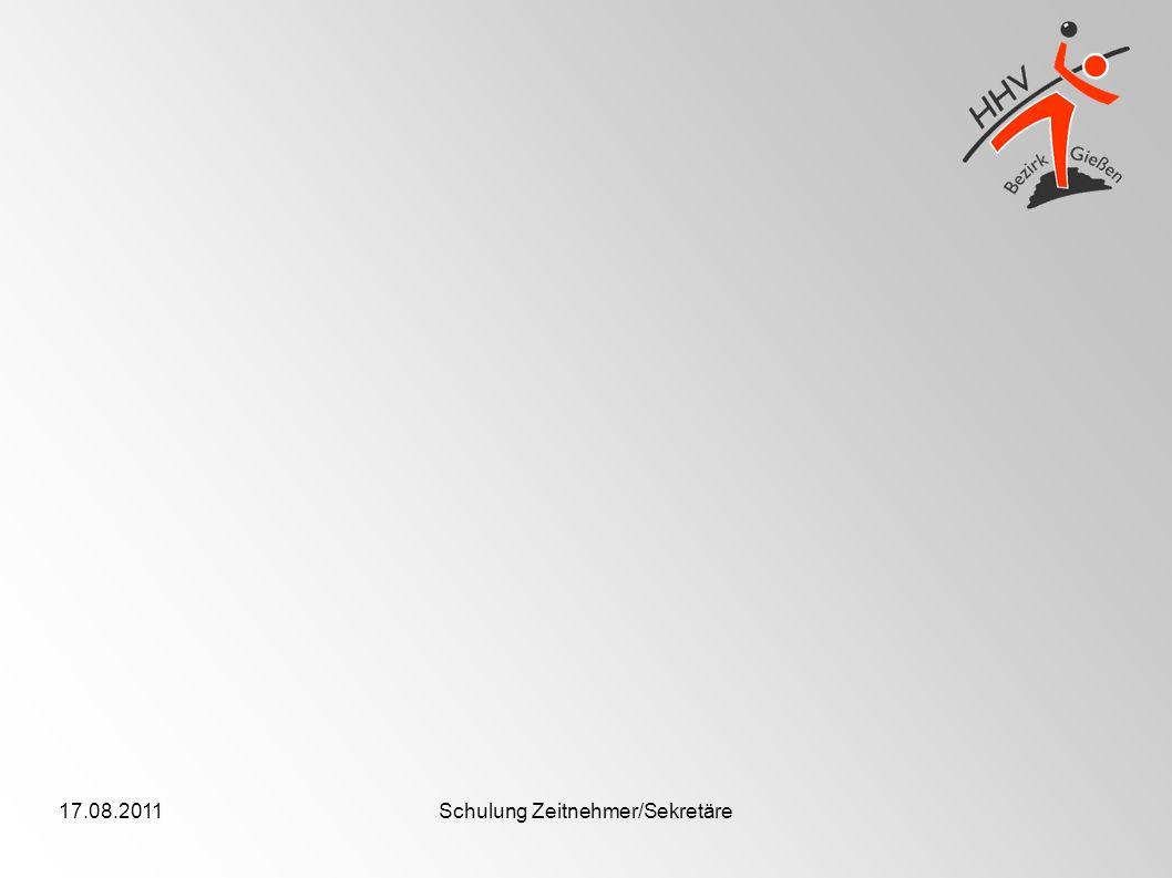 17.08.2011Schulung Zeitnehmer/Sekretäre