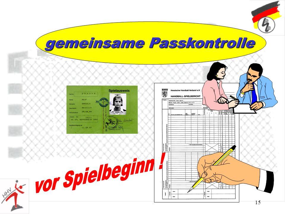 15 gemeinsame Passkontrolle