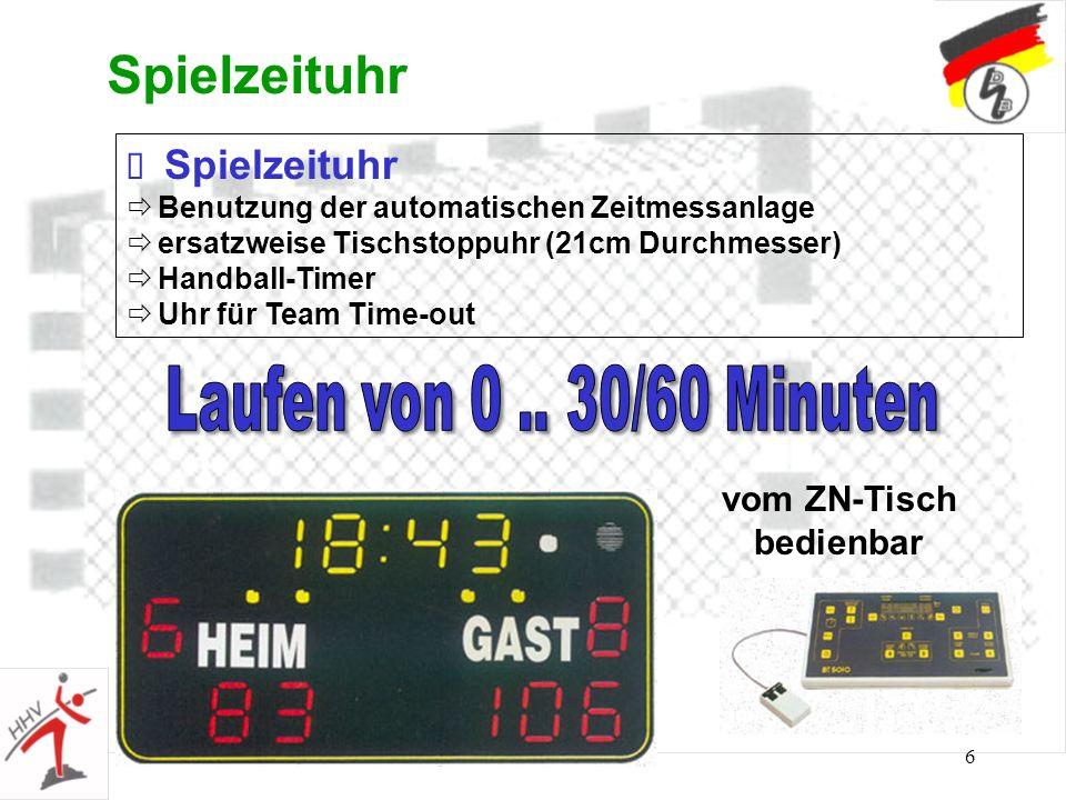 6 Spielzeituhr Benutzung der automatischen Zeitmessanlage ersatzweise Tischstoppuhr (21cm Durchmesser) Handball-Timer Uhr für Team Time-out vom ZN-Tis