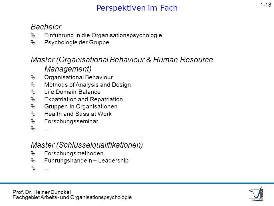 Prof. Dr. Heiner Dunckel Fachgebiet Arbeits- und Organisationspsychologie Bachelor Einführung in die Organisationspsychologie Psychologie der Gruppe M