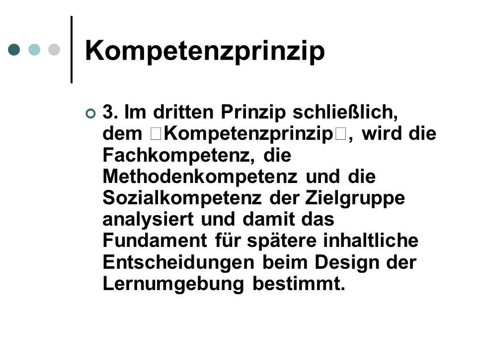 Kompetenzprinzip 3.