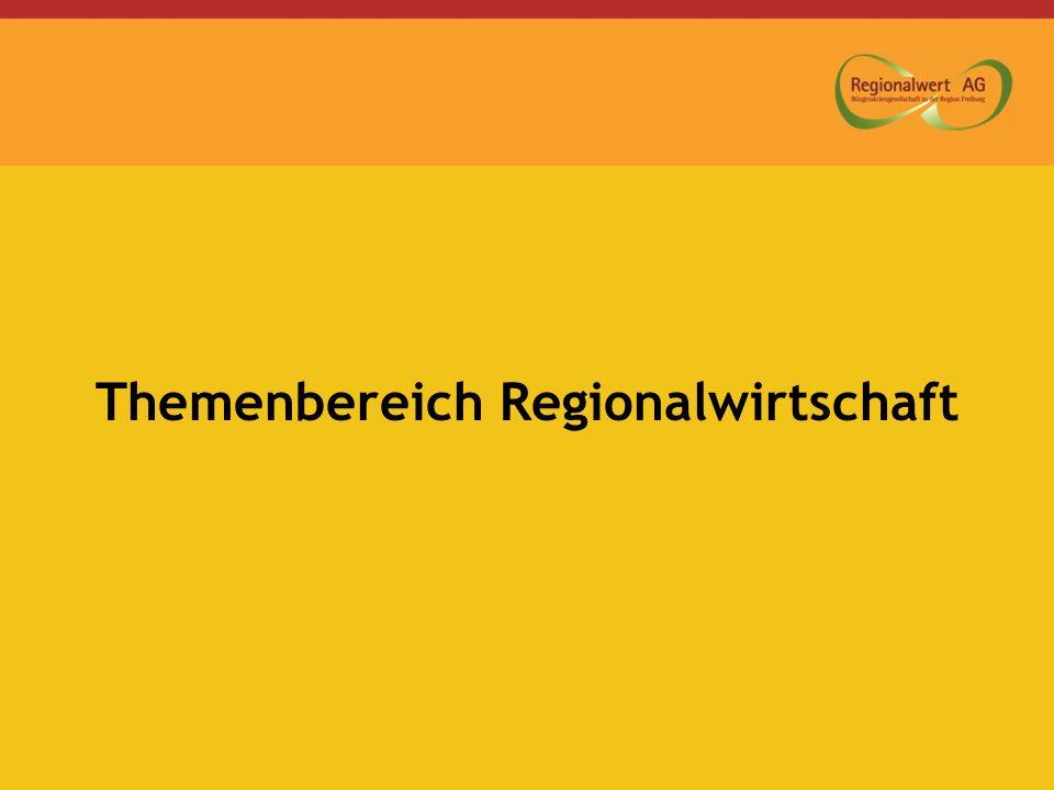 Themenbereich Regionalwirtschaft