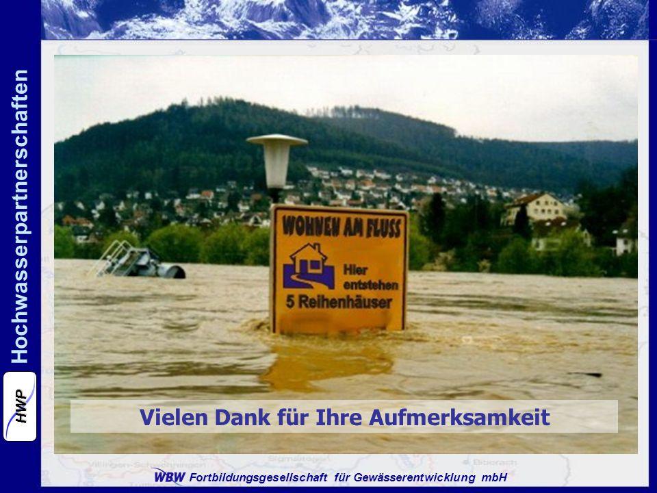 Fortbildungsgesellschaft für Gewässerentwicklung mbH Hochwasserpartnerschaften HWP Vielen Dank für Ihre Aufmerksamkeit