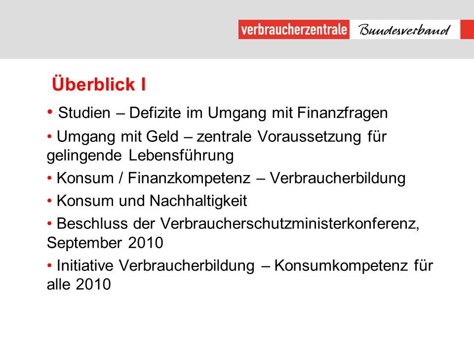 Überblick II Konsumieren mit Köpfchen – Der Materialordner aus Baden-Württemberg Bildungskonzept REVIS Einblicke in pädagogische Interventionen- ausgesuchte Beispiele Gestaltungskompetenz / Zukunftsfähigkeit