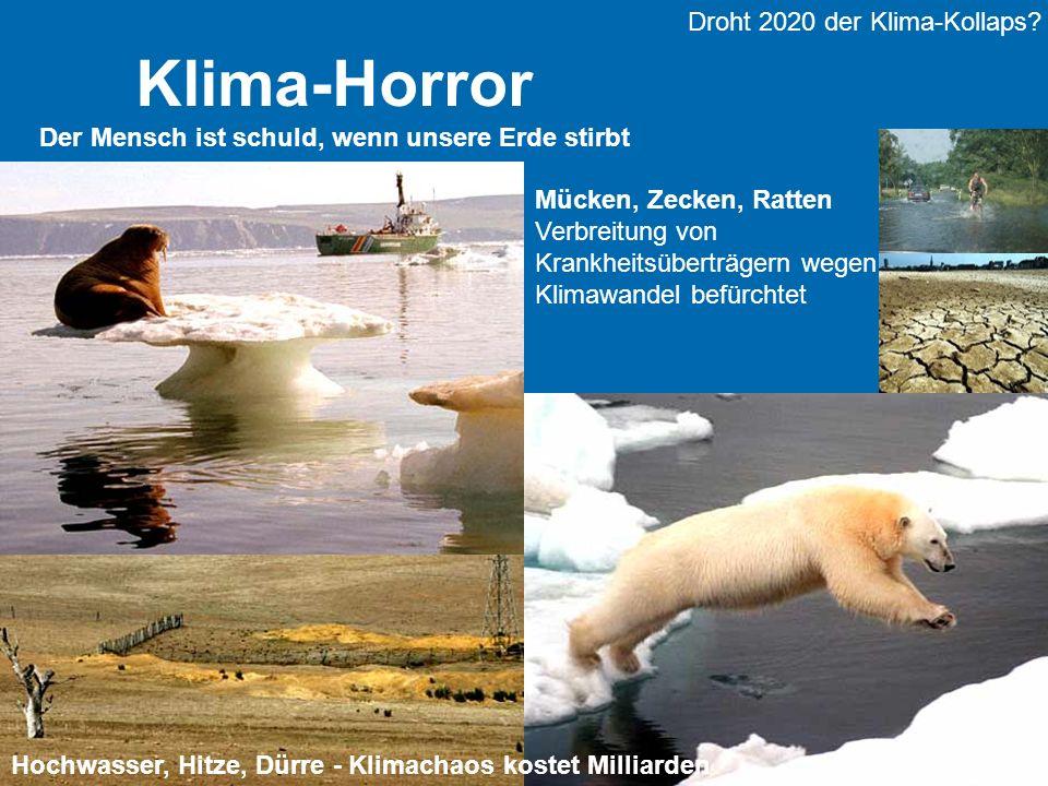 Dr. Barbara Hinding TU Dortmund 2 Klima-Horror Der Mensch ist schuld, wenn unsere Erde stirbt Droht 2020 der Klima-Kollaps? Hochwasser, Hitze, Dürre -