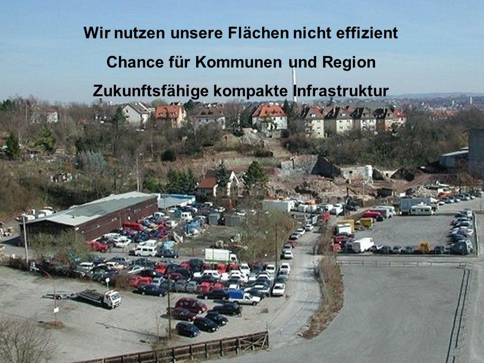 Wir nutzen unsere Flächen nicht effizient Chance für Kommunen und Region Zukunftsfähige kompakte Infrastruktur