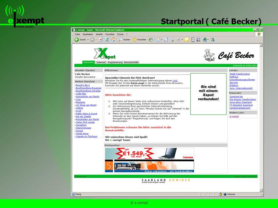 © e-xempt Startportal ( Café Becker)