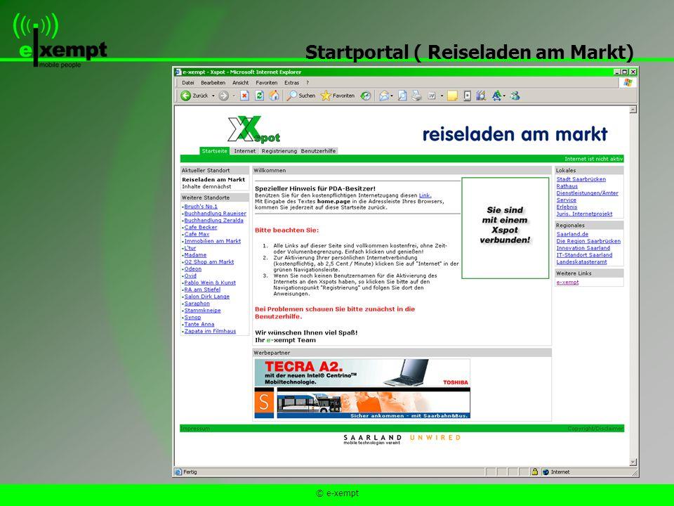 © e-xempt Startportal ( Reiseladen am Markt)