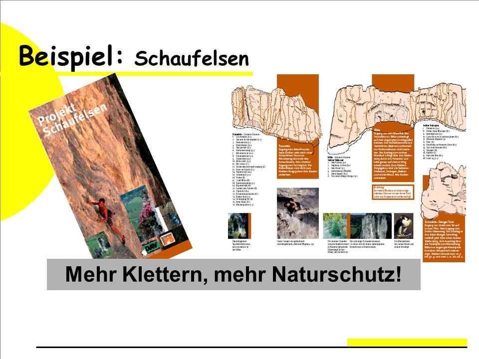 Beispiel: Schaufelsen Mehr Klettern, mehr Naturschutz!